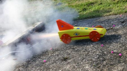 Sidmouth Science Festival jet car racing