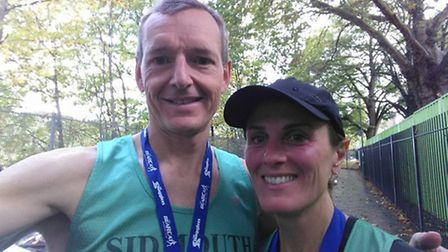 Justin and Claire Ashby at the Cabbage Patch 10 mile run in London