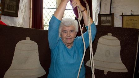 Marion Baker has been bell ringing for 70 years. Ref shs 43-16TI 0552. Picture: Terry Ife