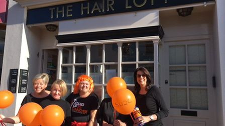 Staff at Hair Loft supported Stand up to Cancer