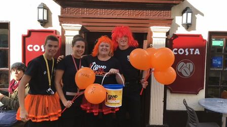 Staff at Costa supported Stand up to Cancer