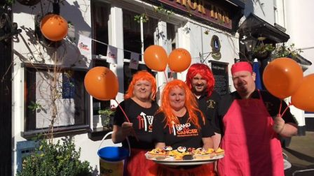 Staff at The Anchor Inn supported Stand up to Cancer