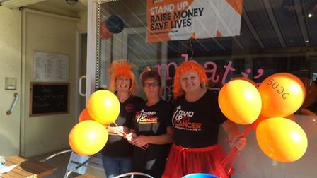 Staff at Sambati's supported Stand up to Cancer