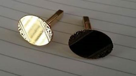 Gold cufflinks stolen from a property in West Hill