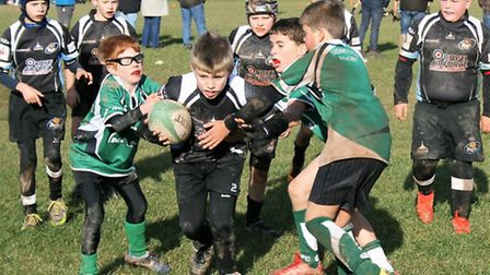 Sidmouth Under-10s in action against Exeter Youth