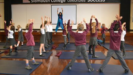 90 primary school pupils attended a Hinduism workshop at Sidmouth College.