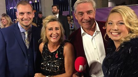 Naomi and husband Graham with Gogglebox stars Dom and Steph at the Pride of Britain awards.