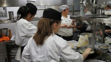 Pupils from the Kings School cooked up a storm at their charity dinner,