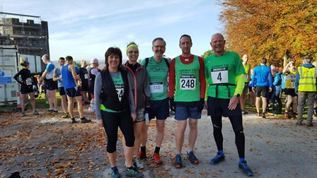 Some of the Sidmouth runners at the Castle Drogo 10 meeting