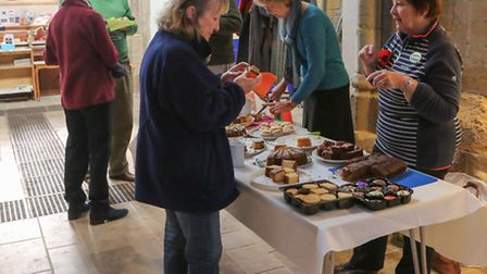 SIDDFAS held a coffee morning and talk to help boost Sidmouth Parish Church window restoration proje