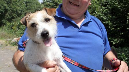 Jimmy Small with his dog Ben. Picture by Alex Walton. Ref shs 7434-29-13AW