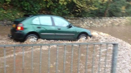 Flash floods on Sidmouth's roads