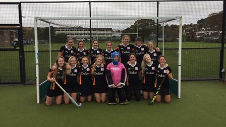 Sidmouth and Ottery Hockey Club ladies second eleven after their 10 goal mauling of Minehead