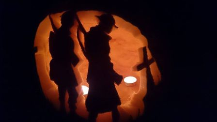 Julie Clayden carved her pumpkin to remember her great-great uncle.