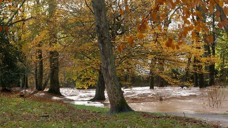 Flooding in the Byes, Sidmouth. Picture: Eve Matthews