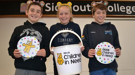 Sidmouth College students collect for Children in Need. Ref shs Sidmouth College CIN-2. Picture: Cou