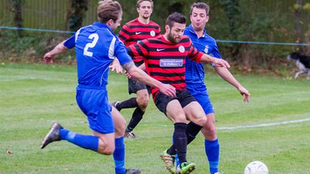 Sidmouth Town 2nds at home to Exmouth Town 2nds. Ref shsp 47-16TI 1930. Picture: Terry Ife
