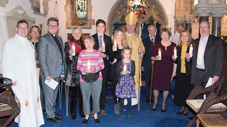 The Bishop of Exeter led a confirmation service in Sidmouth on Sunday
