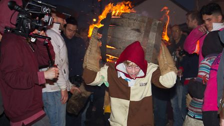 Ottery Tar Barrels 2016. Ref sho 45-16TI 1636. Picture: Terry Ife