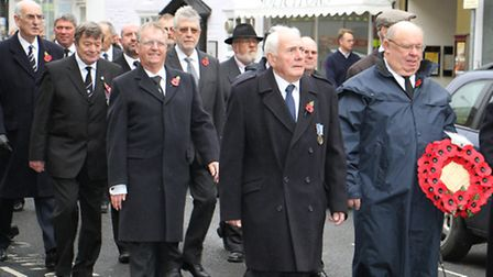 Sidmouth Remembrance. Ref shs 6257-46-15TI. Picture: Terry Ife
