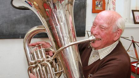 Sidmouth Band member Harold Curtis. Ref SHS 25-16TI 2455. Picture: Terry Ife