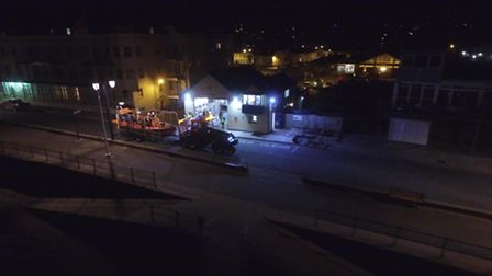 Drone Photography captured a bird's-eye view of Sidmouth Lifeboat