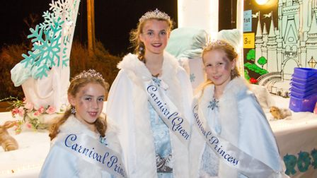 Ottery Royalty at the Carnival. Ref sho 44-16TI 0972. Picture: Terry Ife