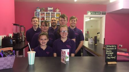 The Matthews family are enjoying a busy first week at their new business Brain Freeze- From front to