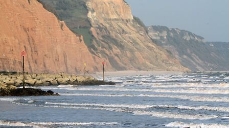 A view east from Sidmouth beach at low tide this week. Ref shs 11-16SH 7630. Picture: Simon Horn