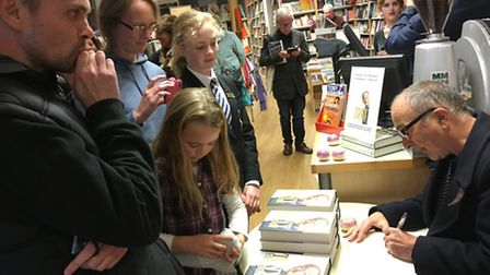 Tony Robison visited Winstone's to sign copies of his autobiography
