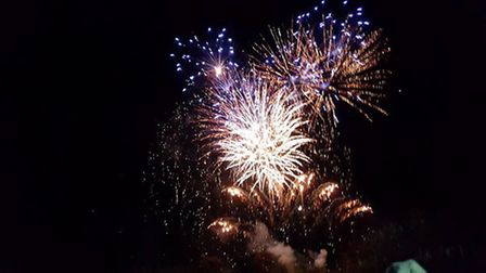 Becky Dawson captured these pictures at the Sidbury fireworks display. Picture: Becky Dorson.