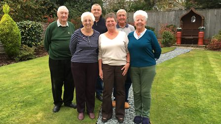 Left to right: Colin Kingman, Beryl Kingman, James Hewitt, Sue Hewitt, Nick Britton and Maureen Brit