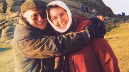 Keith and Linda Streeter at Haytor before he was diagnosed with dementia.