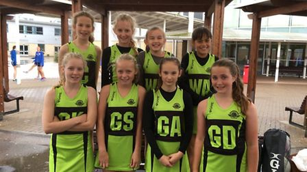 Sidmouth junior netball team
