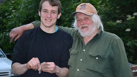 Sol Telfer-Kenworthy paid tribute to his dad Stuart (pictured next to him) who died before he gradua
