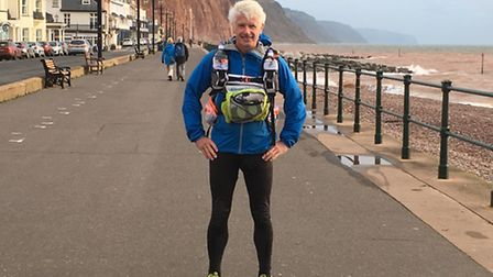 Simon Clark on Sidmouth seafront