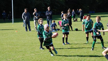 Sidmouth Under-9 action
