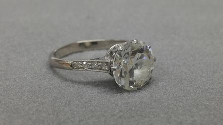 This three-carat solitaire diamond ring sold for £20,000 at auction