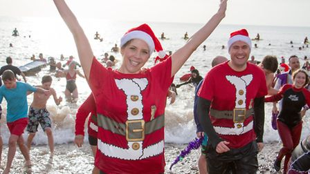 Boxing day swim in Sidmouth 2016. Ref shs 53-16TI 4500. Picture: Terry Ife