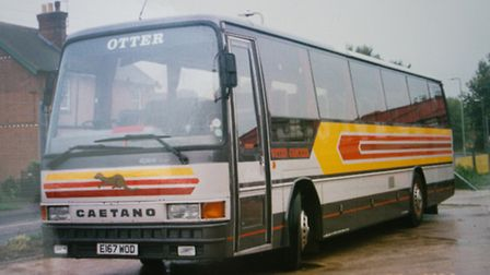 Otter Coaches. Ref sho 49-16TI 3223. Picture: Terry Ife