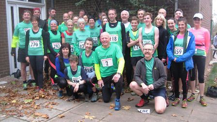Sidmouth runners at the Bicton Blister
