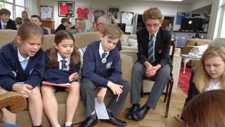 Representatives from Sidmouth Primary School, St John's International School and Sidmouth College co