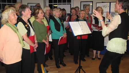 Sid Vale Choir at Sidmouth Arboretum's celebration of trees