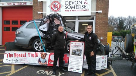 Sidmouth Fire Station commander Steve Crabb and community safety prevention coordinator for Exeter a