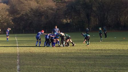 Sidmouth girl's Under-13 action