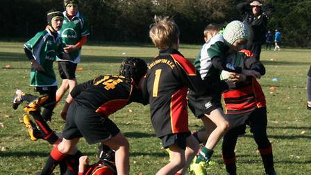 Sidmouth Under-10s action