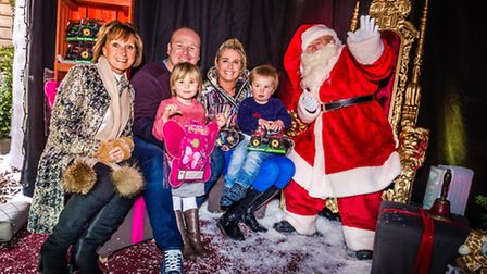 Father Christmas arrives in his grotto at Sidmouth's Wyvale Garden Centre