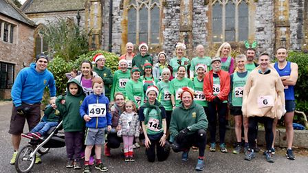 Sidmouth runners at the Reindeer Run