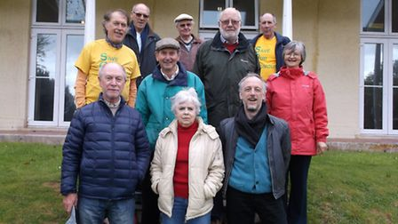 Jeremy Woodward (front right) with campaigners from Save Our Sidmouth at Knowle in 2014