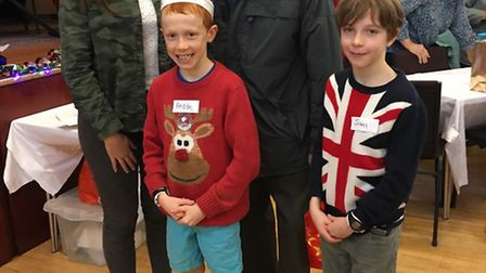 The Pickering family have been volunteering at the event since 2011, youngsters Freddie and Sean wit